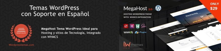 Tema WordPress para Hosting