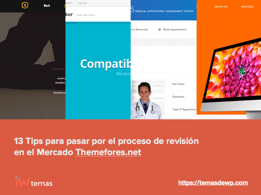 Proceso de revision en themeforest