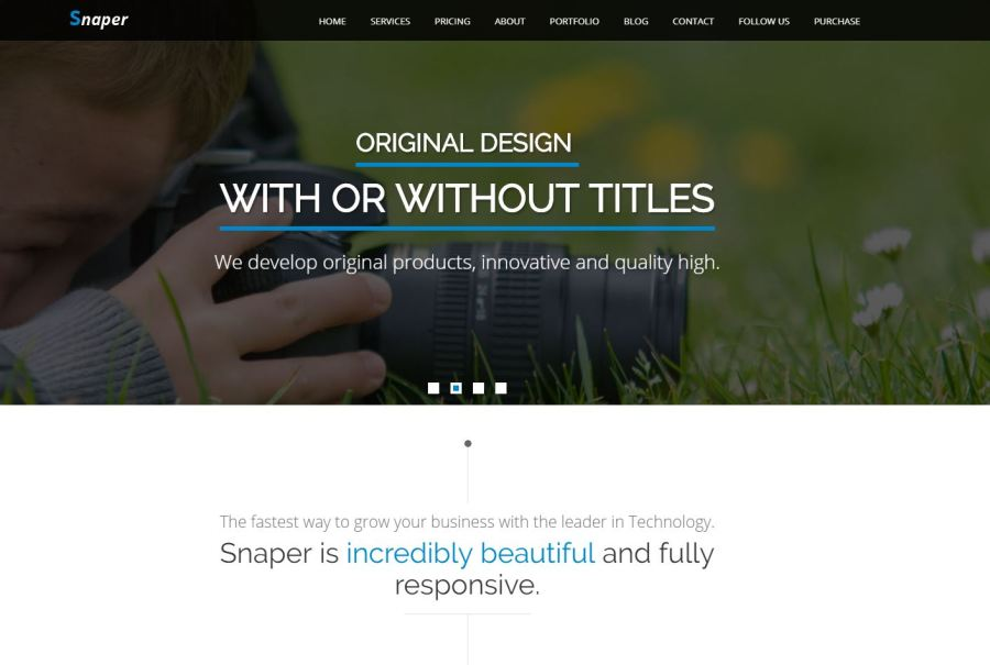 Tema HTML/CSS Gratis para fotógrafos