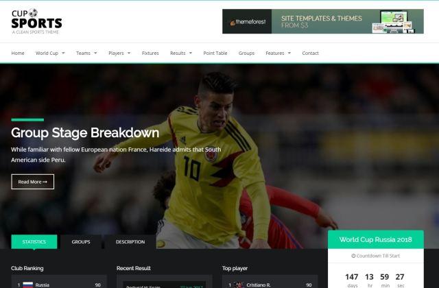 tema html para deportes