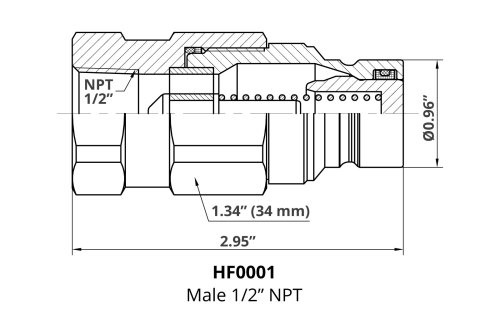 small resolution of 12x 1 2 npt male hydraulic flat face quick coupler skid steer 763 bobcat bobcat face diagram just wiring