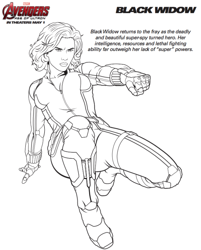 Free Marvel Avengers Coloring Pages · The Typical Mom