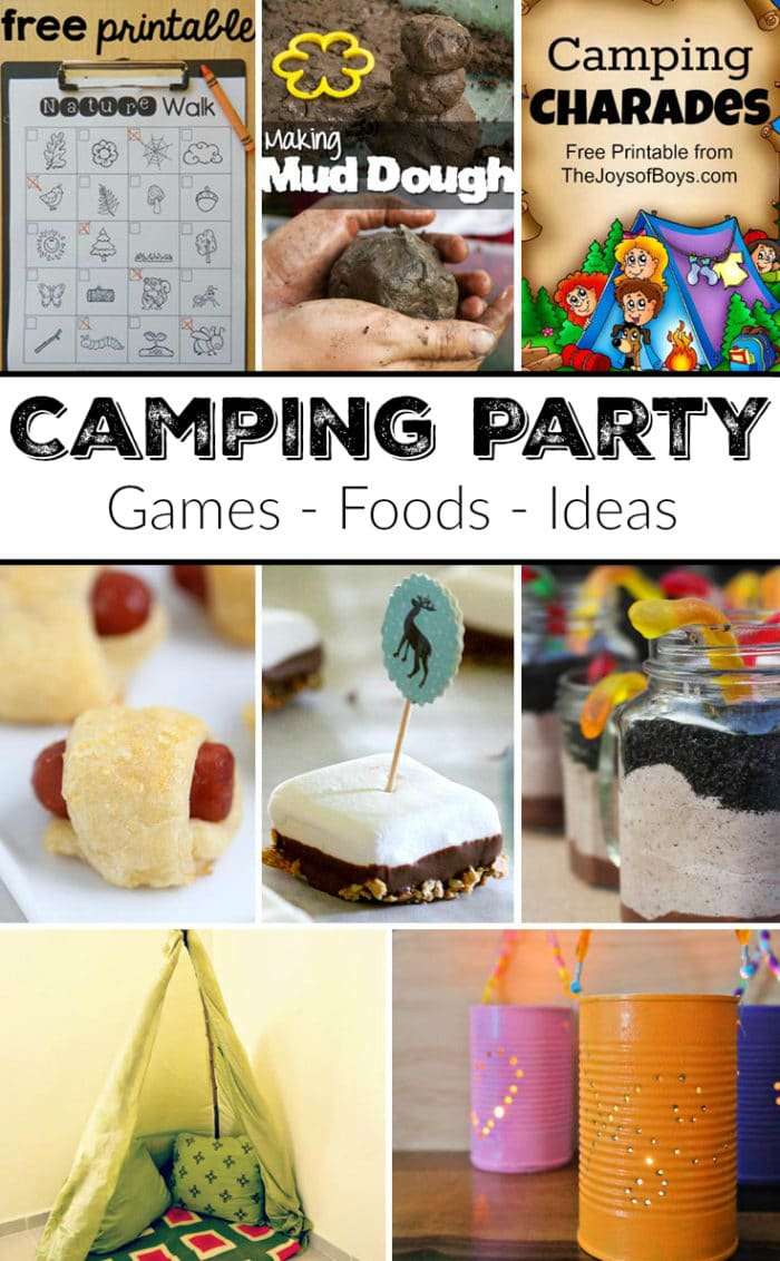 camping themed party the