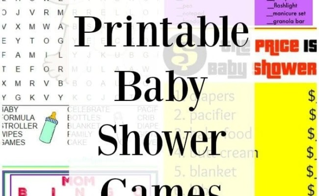Free Printable Baby Shower Games The Typical Mom