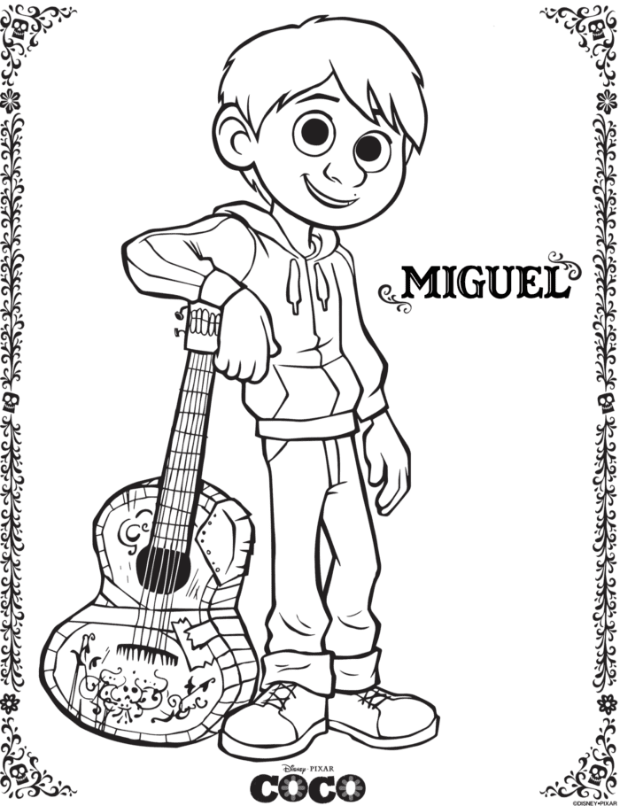 Disney COCO Free Printables Coloring Pages · The Typical Mom