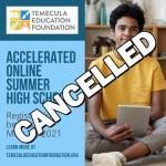 TEF 2021 Summer School Cancelled