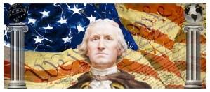 George Washington between Masonic Pillars