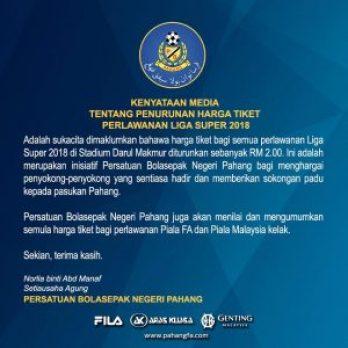 Senarai Pemain Pahang 2018