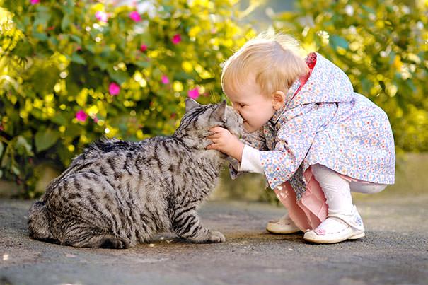 17-ほっこり20枚! 赤ちゃんとネコの仲良しな風景