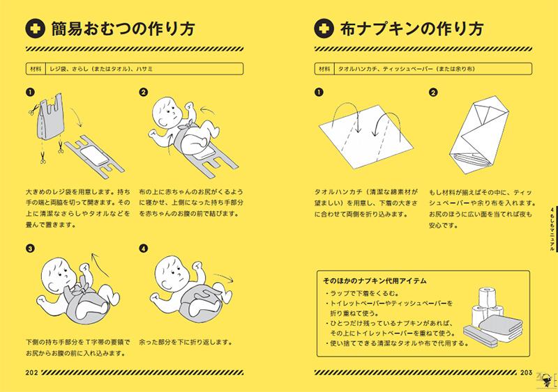 簡易おむつの作り方/布ナプキンの作り方