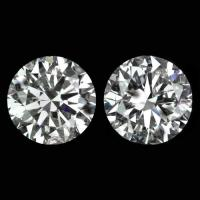 4.44ct F COLOR IDEAL CUT NATURAL DIAMOND STUDS ROUND PAIR ...