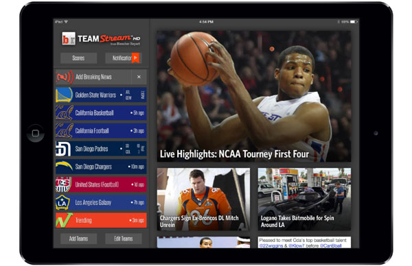 teamstream on iPad