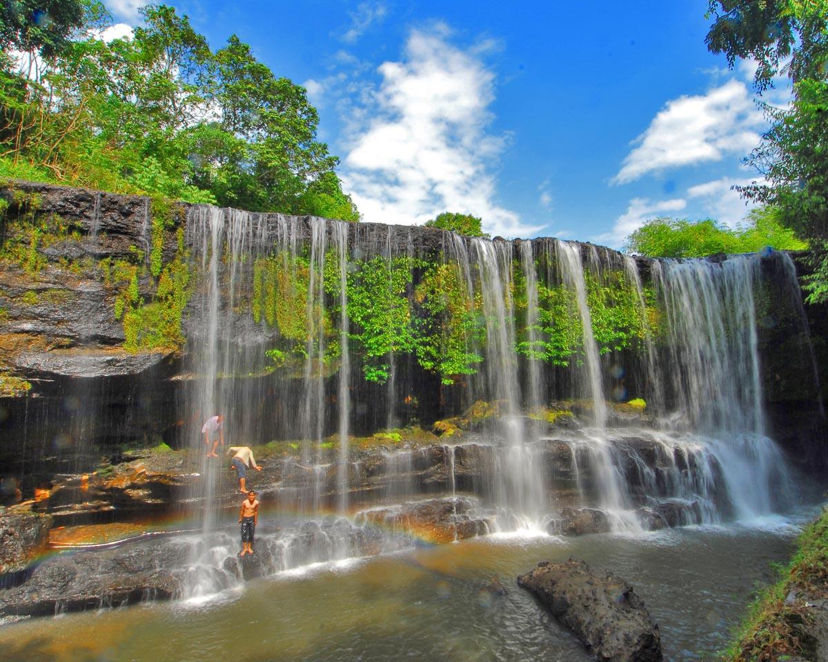 Obyek wisata di Lubuk linggau  Air terjun temam  Tempat