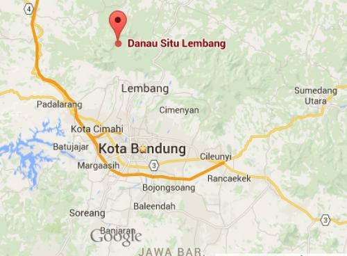 Peta Situ Lembang Bandung