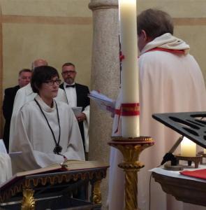 Aufnahme einer Postulantin