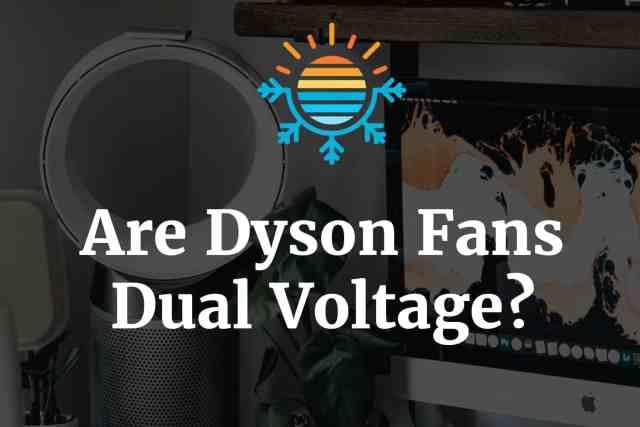 Are Dyson Fan Dual Voltage