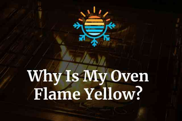 Why is my oven flame yellow