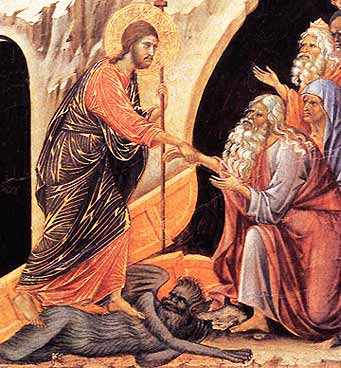 Descent to Hell, detail (Duccio, 1308)