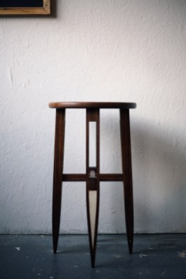 High Stool Black Walnut Amp Plaster Temper Studio