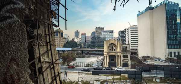 concrete buildings in beirut