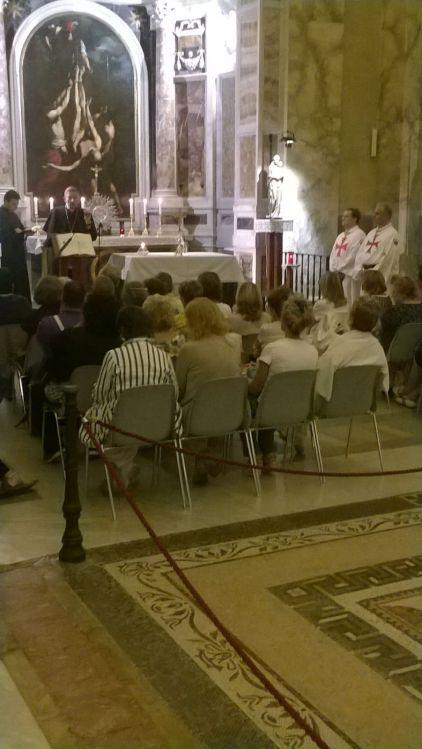 I Templari Cattolici d'Italia all'Abbazia delle Tre Fontane