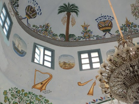 Symbols on the roof of the synagogue