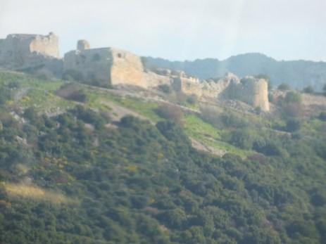 Nimrod Fortress dominates the mountain