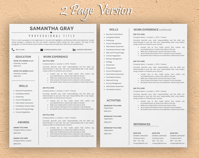 The link above has a litany of free resume templates you can download for google docs or microsoft word. Short One Page Resume Template Sample In Word Format Template Resume Com