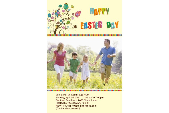 Free Photo Templates Easter Day Invitation 3