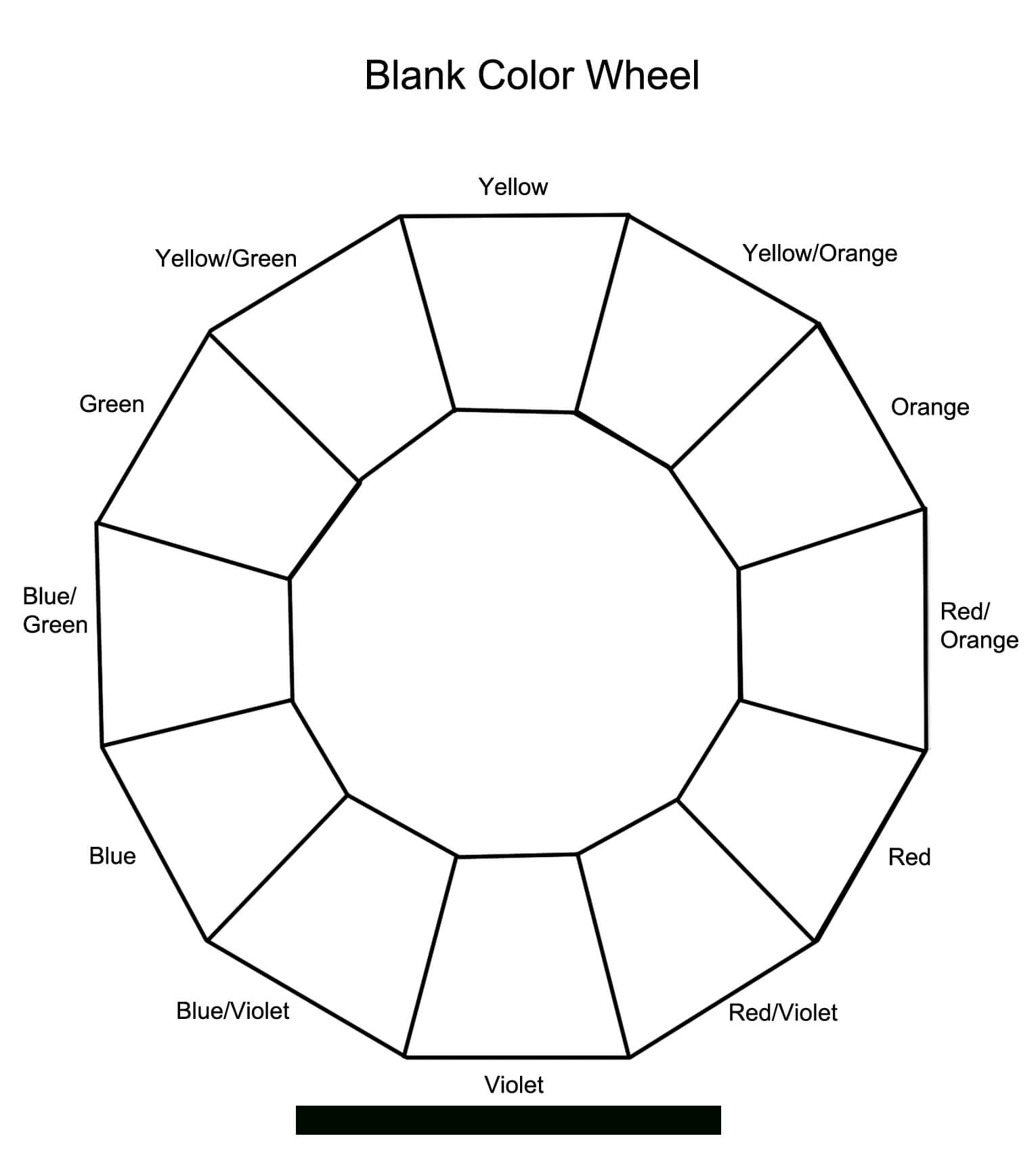 Blank Multiplication Wheel To 15