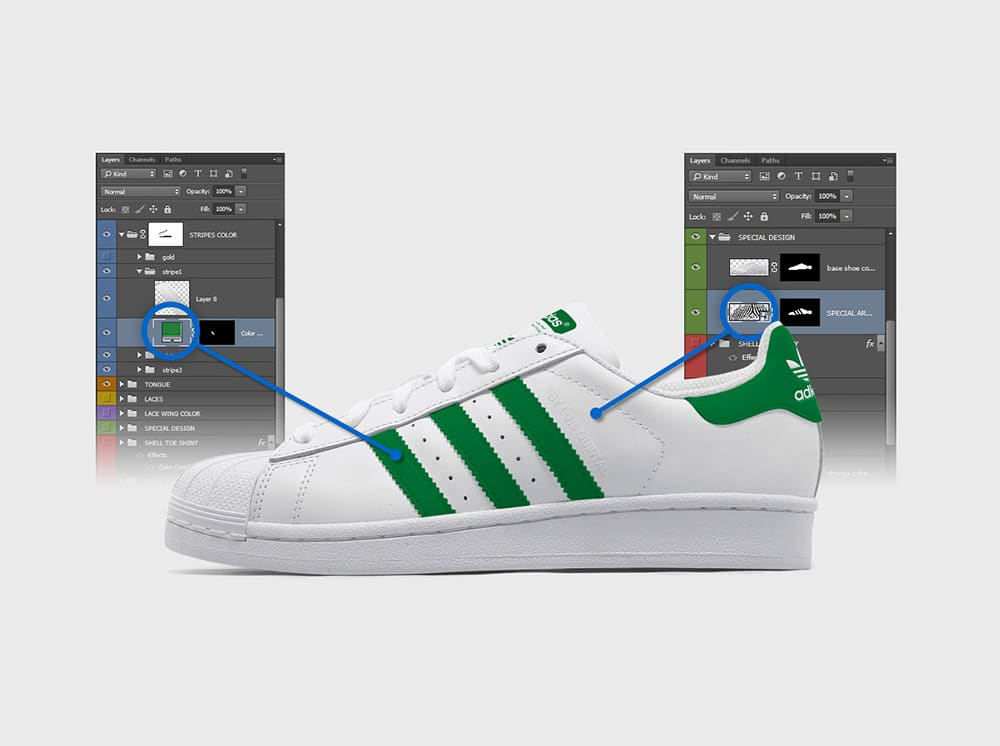Download Mockup - Chaussure Adidas Superstar > Template.pro