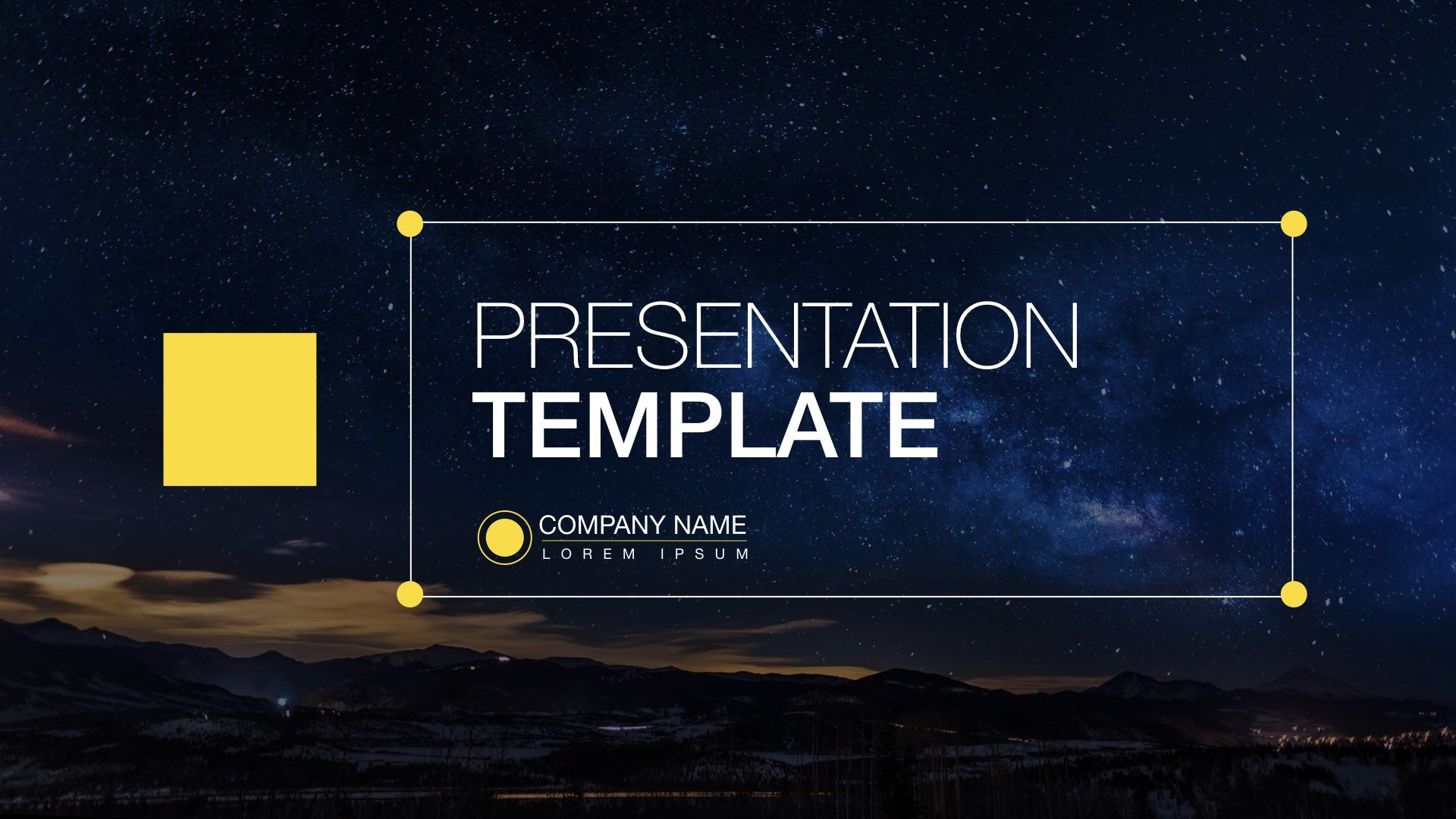 Space Free Powerpoint Template Template7