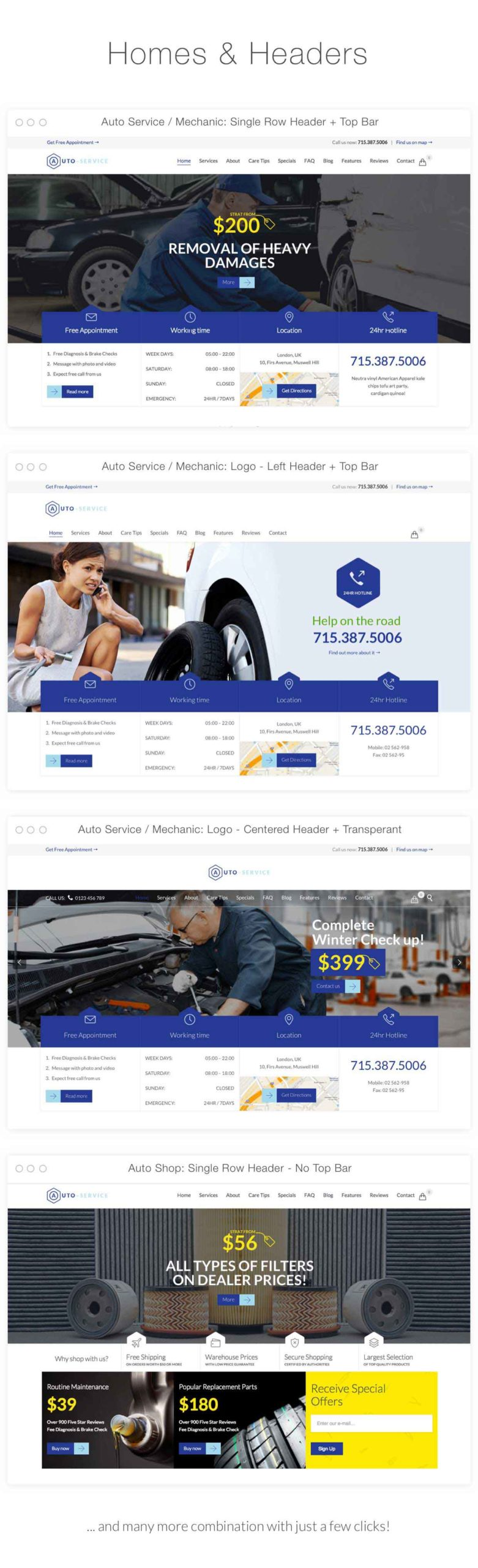 WordPress 5.3 Compatible Car Service Website Theme