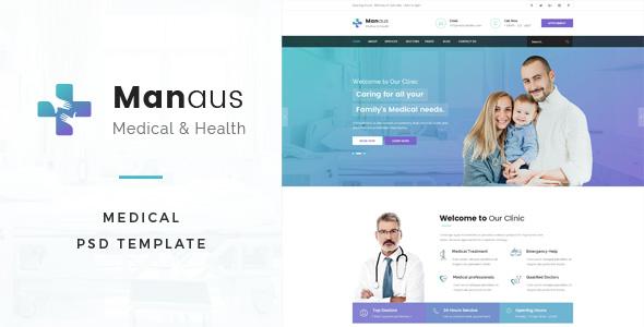 7+ Medical Website PSD Templates