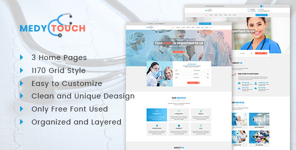 Medical Website PSD Template