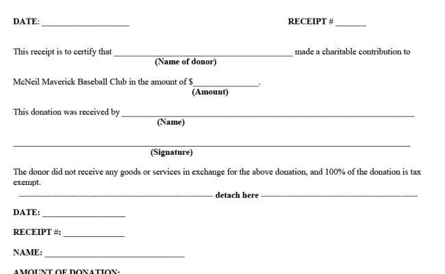 Donation Receipt Template Explained Contoh Kumpulan
