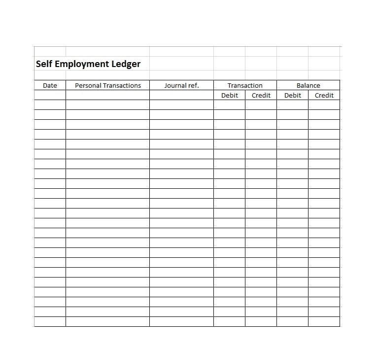 self employment ledger template - April.onthemarch.co