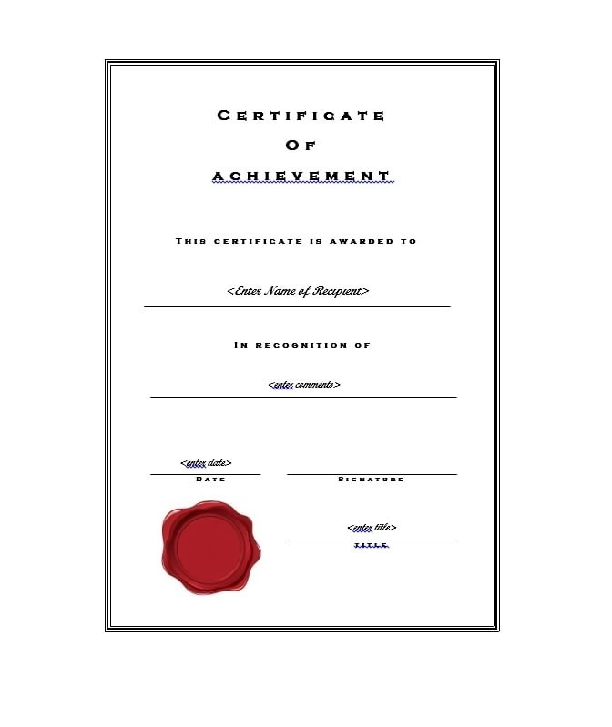 40 Great Certificate of Achievement Templates (FREE