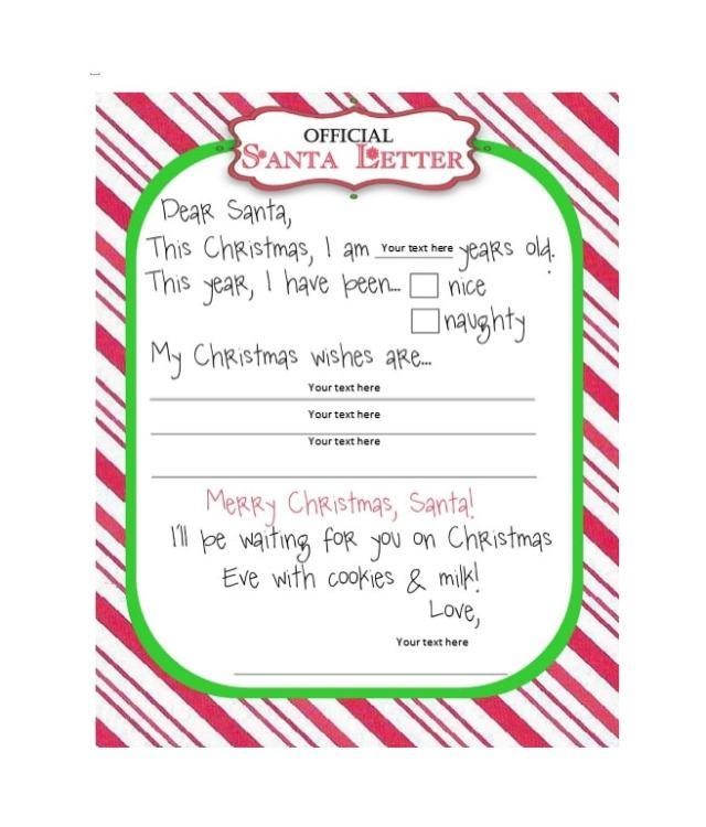 Secret Santa Wish List Template - FREE DOWNLOAD