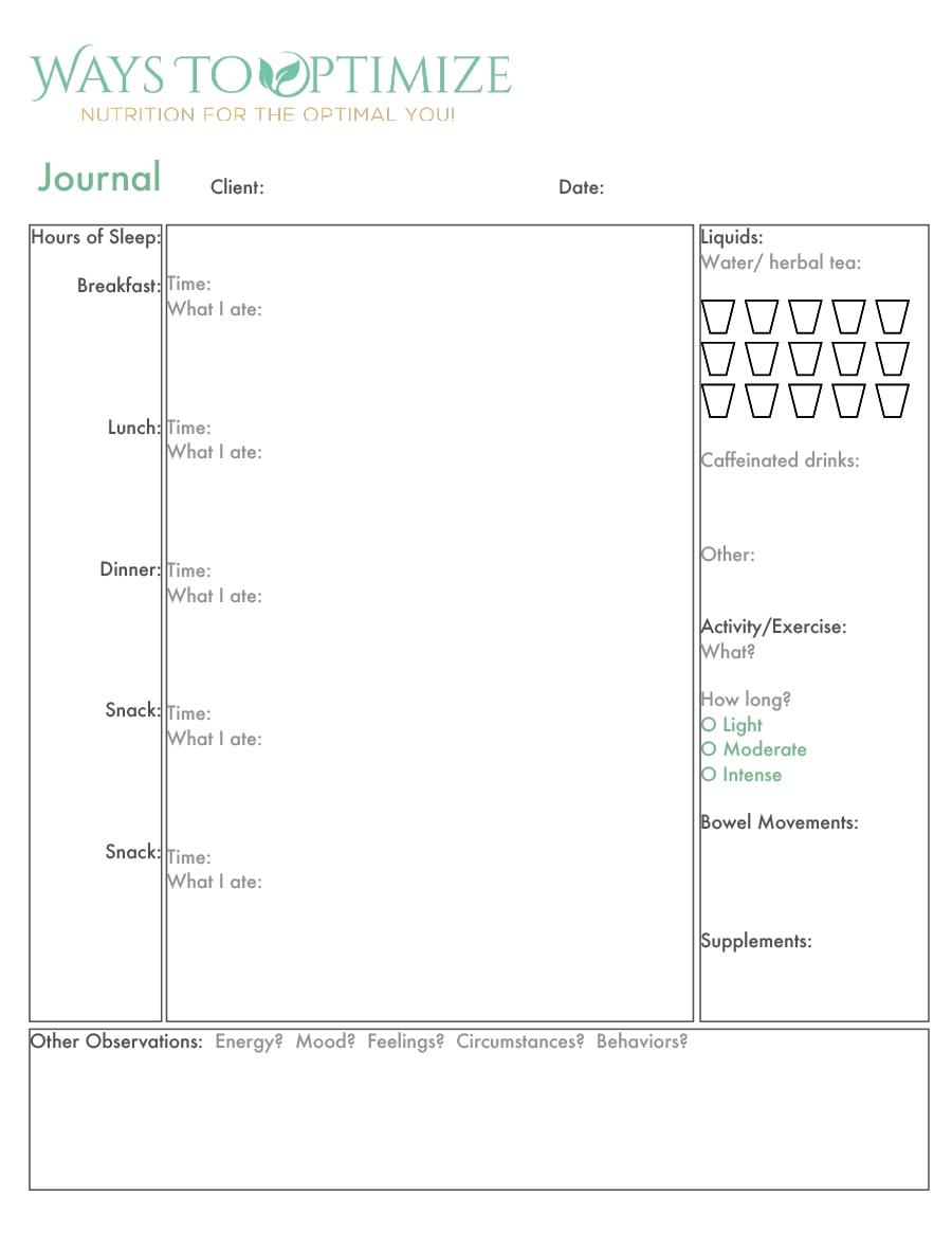 Food Journal Template 25