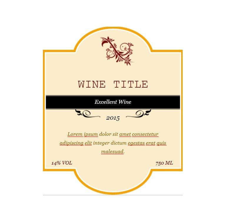 40 free wine label