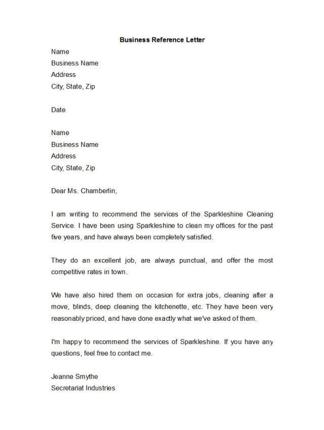 45 Awesome Business Reference Letters
