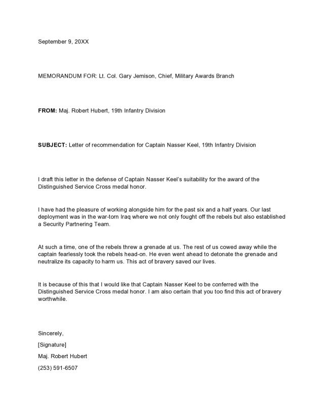 15 Military Letters Of Recommendation [Army, Navy, Air Force]