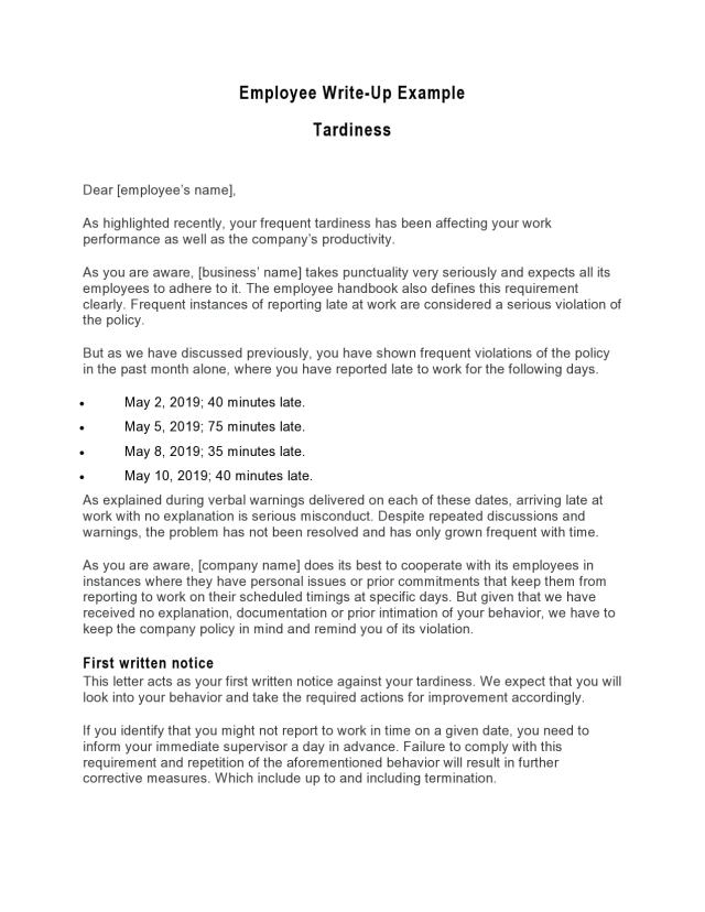 8 Effective Employee Write-Up Forms (Free Download)