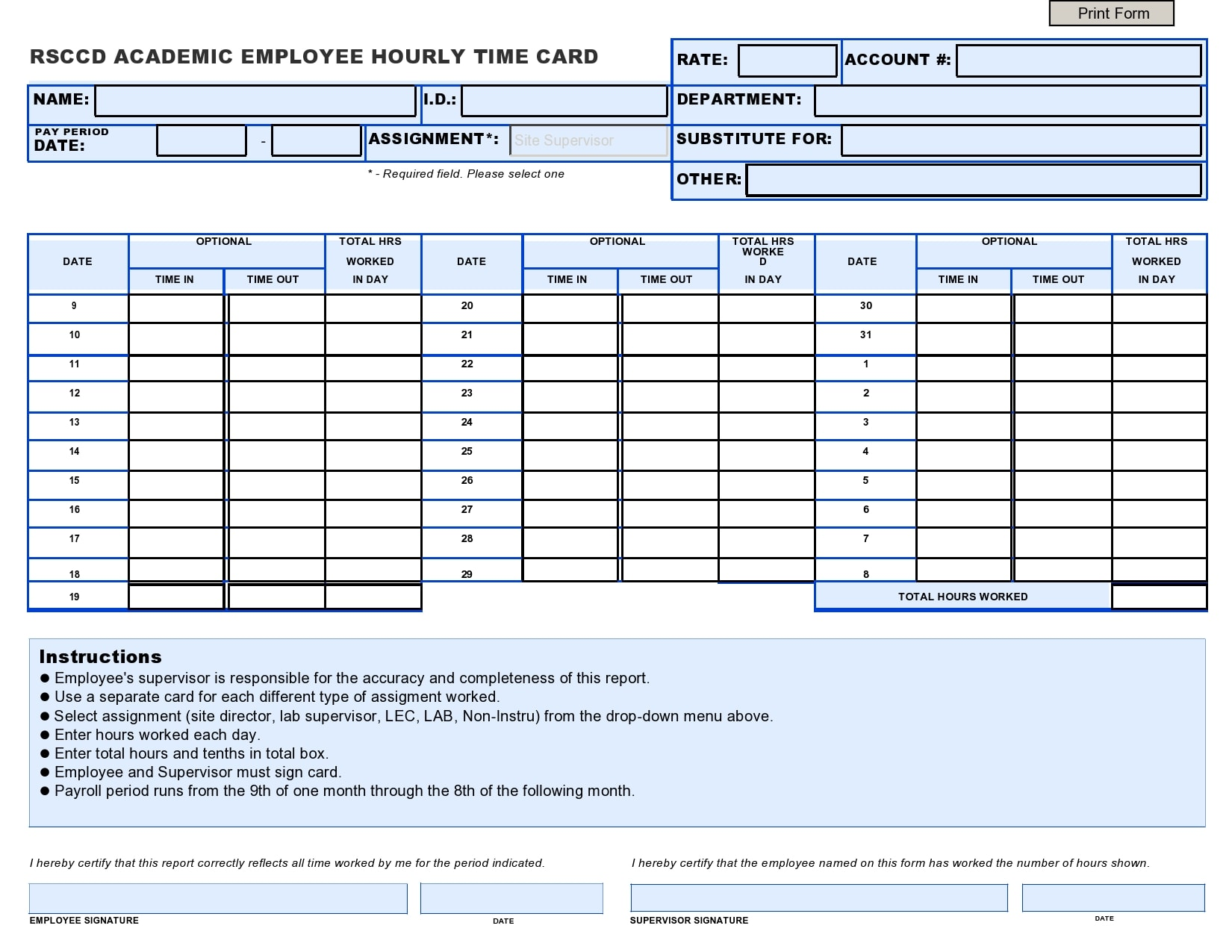 This method is very useful in tracking the total progress in lieu of the total hours spent by an employee on a particular project. 30 Free Time Card Templates Weekly Daily Templatearchive
