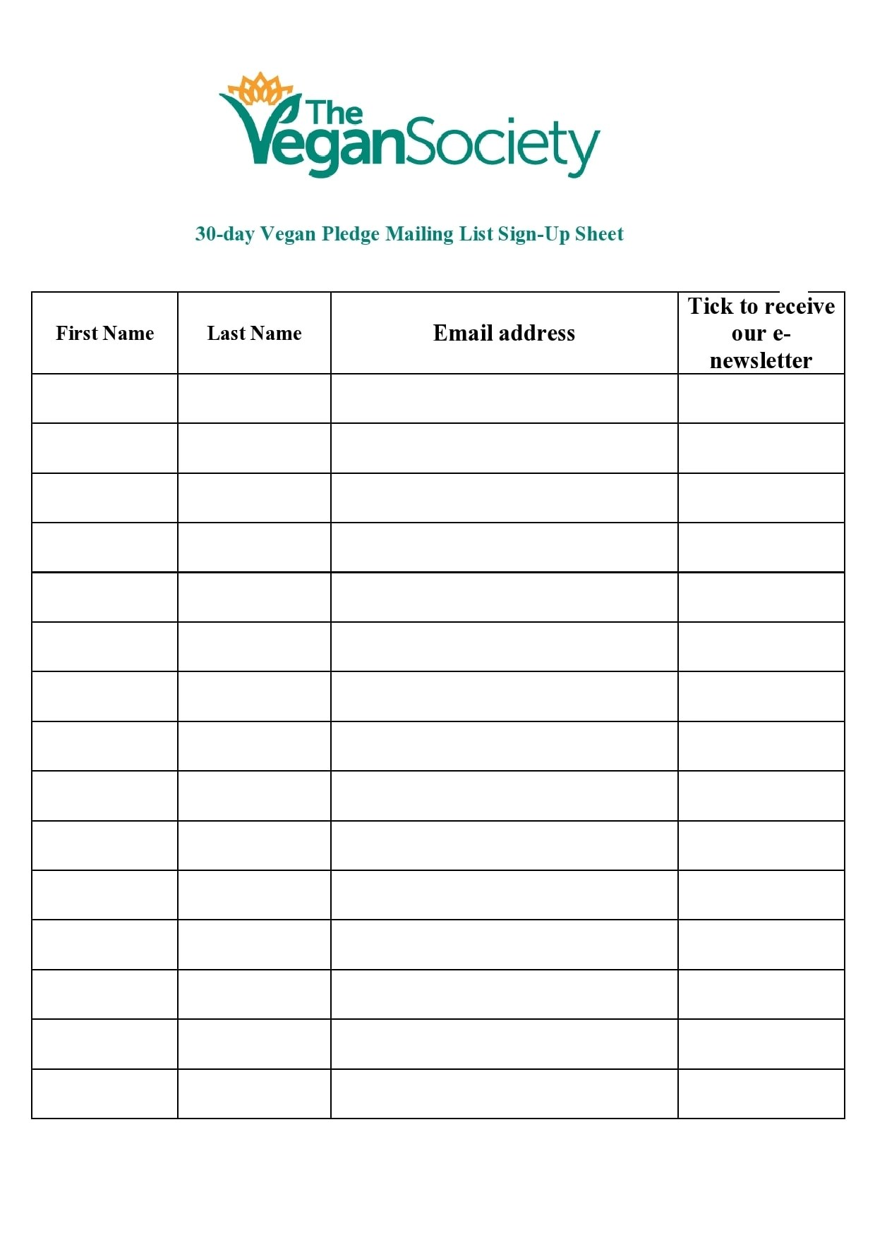 Use this mailing list sign up sheet when you are developing your next marketing mailing list. 30 Best Email Sign Up Sheet Templates Word Excel