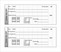 Receipt Template Doc for Word Documents in Different Types ...