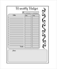 bi weekly budget worksheet free