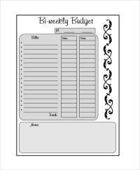 bi weekly budget worksheet free - DriverLayer Search Engine