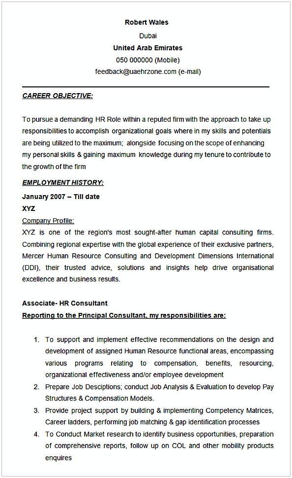 admin consultant resume sample